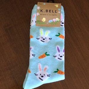 K. bell Easter Spring holiday socks
